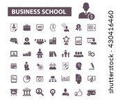 business school icons  | Shutterstock .eps vector #430416460