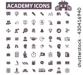 academy icons  | Shutterstock .eps vector #430416940