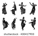 Isolated Black Silhouettes Of...