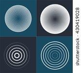 radar screen concentric circle... | Shutterstock .eps vector #430419028