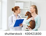 medicine  pet care and people... | Shutterstock . vector #430421830