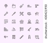 building icons | Shutterstock .eps vector #430421950