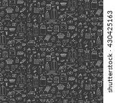 seamless background hand drawn... | Shutterstock .eps vector #430425163