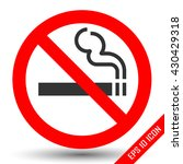 no smoking sign on white... | Shutterstock .eps vector #430429318