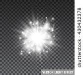 white starlight on transparent... | Shutterstock .eps vector #430432378