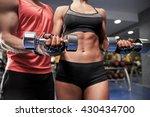 fitness  sport  exercising and...   Shutterstock . vector #430434700