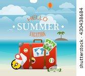 summer seaside vacation... | Shutterstock .eps vector #430438684