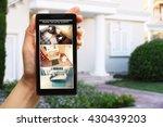 female hand holding a... | Shutterstock . vector #430439203