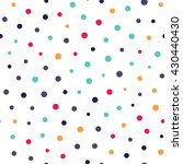 seamless dots pattern with... | Shutterstock .eps vector #430440430