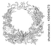 contoured wreath of vector... | Shutterstock .eps vector #430440673