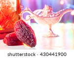 date fruits in colorful... | Shutterstock . vector #430441900