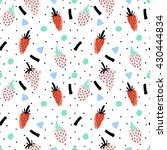 hand drawn seamless pattern... | Shutterstock .eps vector #430444834