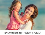 portrait of mother and little... | Shutterstock . vector #430447330