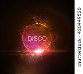 Disco Neon Sign. 3d Illuminate...
