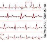 abstract heart beats cardiogram ... | Shutterstock .eps vector #430455340