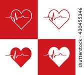 abstract heart beats cardiogram ...   Shutterstock .eps vector #430455346