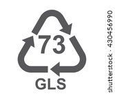glass recycling code 73 gls .... | Shutterstock .eps vector #430456990