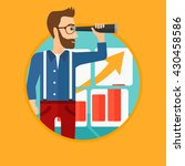 a hipster businessman looking... | Shutterstock .eps vector #430458586