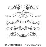 set of page decoration line...   Shutterstock .eps vector #430461499