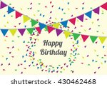 anniversary banner sets. party... | Shutterstock .eps vector #430462468