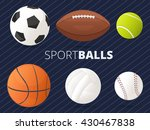 set of sport balls with... | Shutterstock .eps vector #430467838