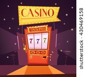 sparkling casino with jackpot... | Shutterstock .eps vector #430469158