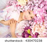 girl in flower | Shutterstock . vector #430470238