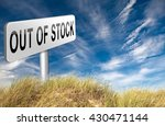 out of stock no more available... | Shutterstock . vector #430471144