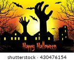 zombie hand rising out from the ... | Shutterstock .eps vector #430476154