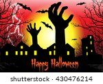 zombie hand rising out from the ... | Shutterstock .eps vector #430476214