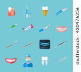 dentist isolated flat icons set ... | Shutterstock .eps vector #430476256
