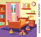 children bedroom interior.... | Shutterstock .eps vector #430476454