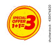 special offer one plus one is... | Shutterstock . vector #430476820