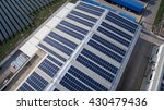 aerial view of solar panels on... | Shutterstock . vector #430479436