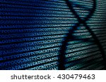 dna sequence   abstract... | Shutterstock . vector #430479463