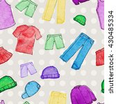 pattern clothing watercolor | Shutterstock .eps vector #430485334