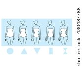 female body types set. vector... | Shutterstock .eps vector #430487788