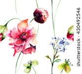 seamless pattern with original... | Shutterstock . vector #430492546