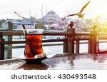 turkish tea cup on the... | Shutterstock . vector #430493548