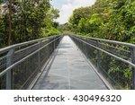 Modern Metal Bridge Over The...