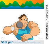 athlete thrower kernel executes ... | Shutterstock .eps vector #430496446