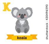 Koala. K Letter. Cute Children...