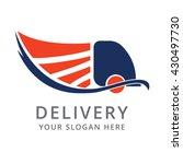 cargo truck vector logo design...