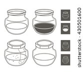 glass jars of the line | Shutterstock .eps vector #430501600
