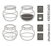 glass jars of the line | Shutterstock .eps vector #430501600