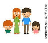 family illustration with two... | Shutterstock . vector #430511140