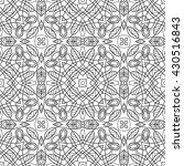 black and white seamless... | Shutterstock .eps vector #430516843