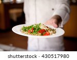 pasta with tomato sauce  cheese ... | Shutterstock . vector #430517980