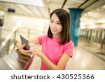 young woman using smart phone... | Shutterstock . vector #430525366
