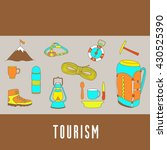 set with tourism elements of... | Shutterstock .eps vector #430525390